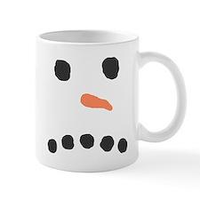Sad Unhappy Snowman Face Bah Humbug Mugs