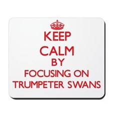 Keep calm by focusing on Trumpeter Swans Mousepad