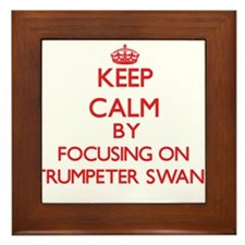 Keep calm by focusing on Trumpeter Swans Framed Ti
