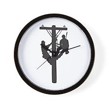 Linemen Wall Clock