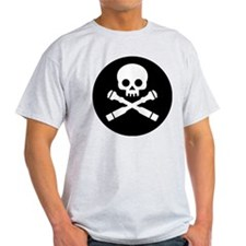 skull and crossed drones Black T-Shirt