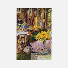 The Room of Flowers by Childe Has Rectangle Magnet