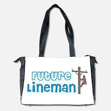 Future Lineman Diaper Bag