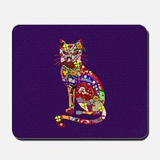 Patchwork Cat Mousepad