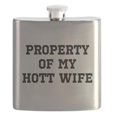 Property of my Hott Wife Flask
