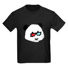 Panda Bear with 3D Glasses T-Shirt