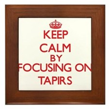 Keep calm by focusing on Tapirs Framed Tile