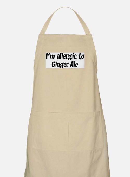 Allergic to Ginger Ale BBQ Apron