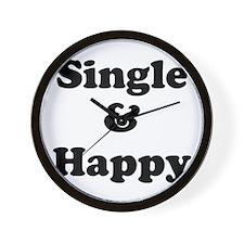 Single and Happy Wall Clock