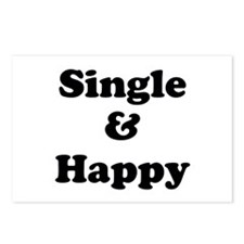 Single and Happy Postcards (Package of 8)