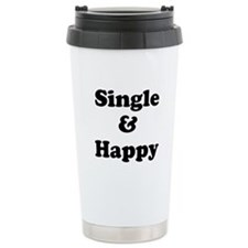 Single and Happy Travel Mug