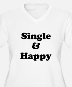 Single and Happy Plus Size T-Shirt