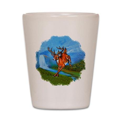 Waterfall Deer Shot Glass