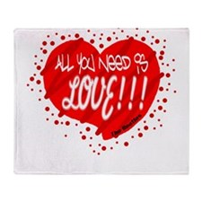 All You Need Is Love-The Beatles Throw Blanket