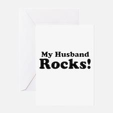 My Husband Rocks! Greeting Cards