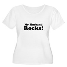 My Husband Rocks! Plus Size T-Shirt