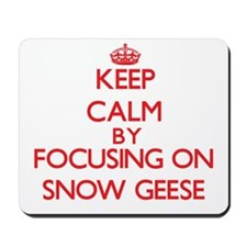 Keep calm by focusing on Snow Geese Mousepad