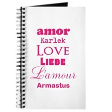 Amor Karlek Love Lieb LAmour Armastus Journal