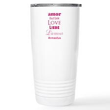 Amor Karlek Love Lieb LAmour Armastus Travel Mug