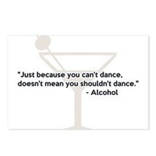 Alcohol Confidence Dancing Postcards (Package of 8