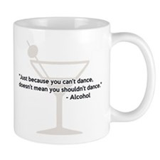 Alcohol Confidence Dancing Mugs