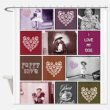 Vintage Puppy Love Shower Curtain