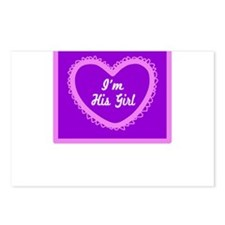 Im His Girl/t-shirt Postcards (Package of 8)