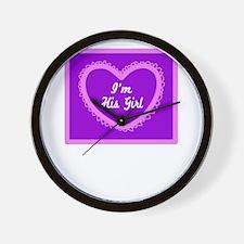 Im His Girl/t-shirt Wall Clock