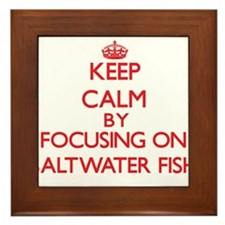 Keep calm by focusing on Saltwater Fish Framed Til