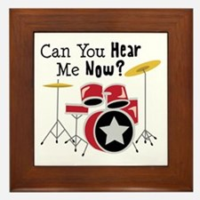 Can You Hear Me Now Framed Tile