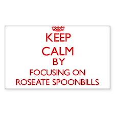 Keep calm by focusing on Roseate Spoonbills Sticke
