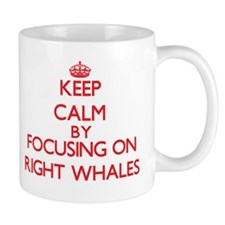 Keep calm by focusing on Right Whales Mugs