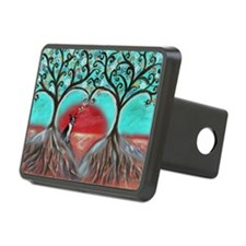 Boston Terrier Tree of Life Hearts 2 Hitch Cover