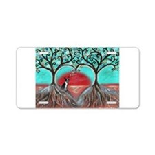 Boston Terrier Tree of Life Hearts 2 Aluminum Lice