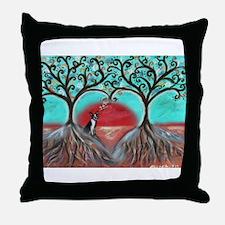 Boston Terrier Tree of Life Hearts 2 Throw Pillow