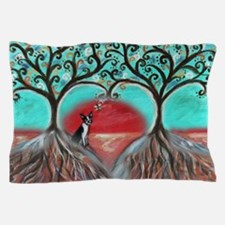 Boston Terrier Tree of Life Hearts 2 Pillow Case