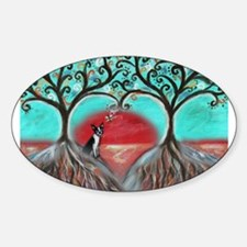 Boston Terrier Tree of Life Hearts 2 Decal