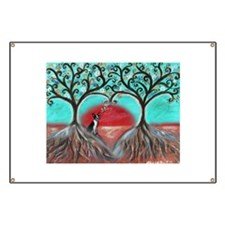 Boston Terrier Tree of Life Hearts 2 Banner