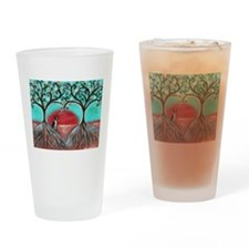 Boston Terrier Tree of Life Hearts 2 Drinking Glas