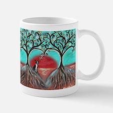 Boston Terrier Tree of Life Hearts 2 Mugs