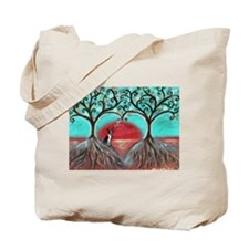 Boston Terrier Tree of Life Hearts 2 Tote Bag