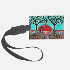 Boston Terrier Tree of Life Hearts 2 Luggage Tag