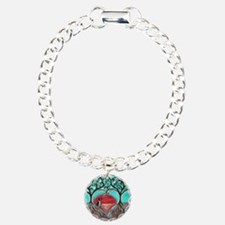 Boston Terrier Tree of Life Hearts 2 Bracelet