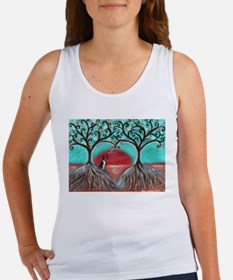 Boston Terrier Tree of Life Hearts 2 Tank Top