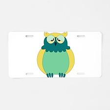 owl 1 Aluminum License Plate