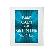 Keep Calm & Get in the Vortex Throw Blanket