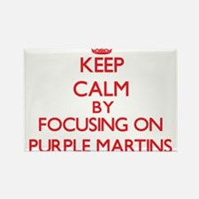 Keep calm by focusing on Purple Martins Magnets