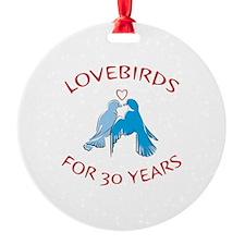 30th Anniversary Lovebirds Ornament