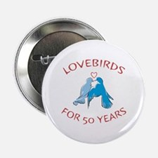 "50th Anniversary Lovebirds 2.25"" Button"