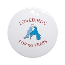 50th Anniversary Lovebirds Ornament (Round)